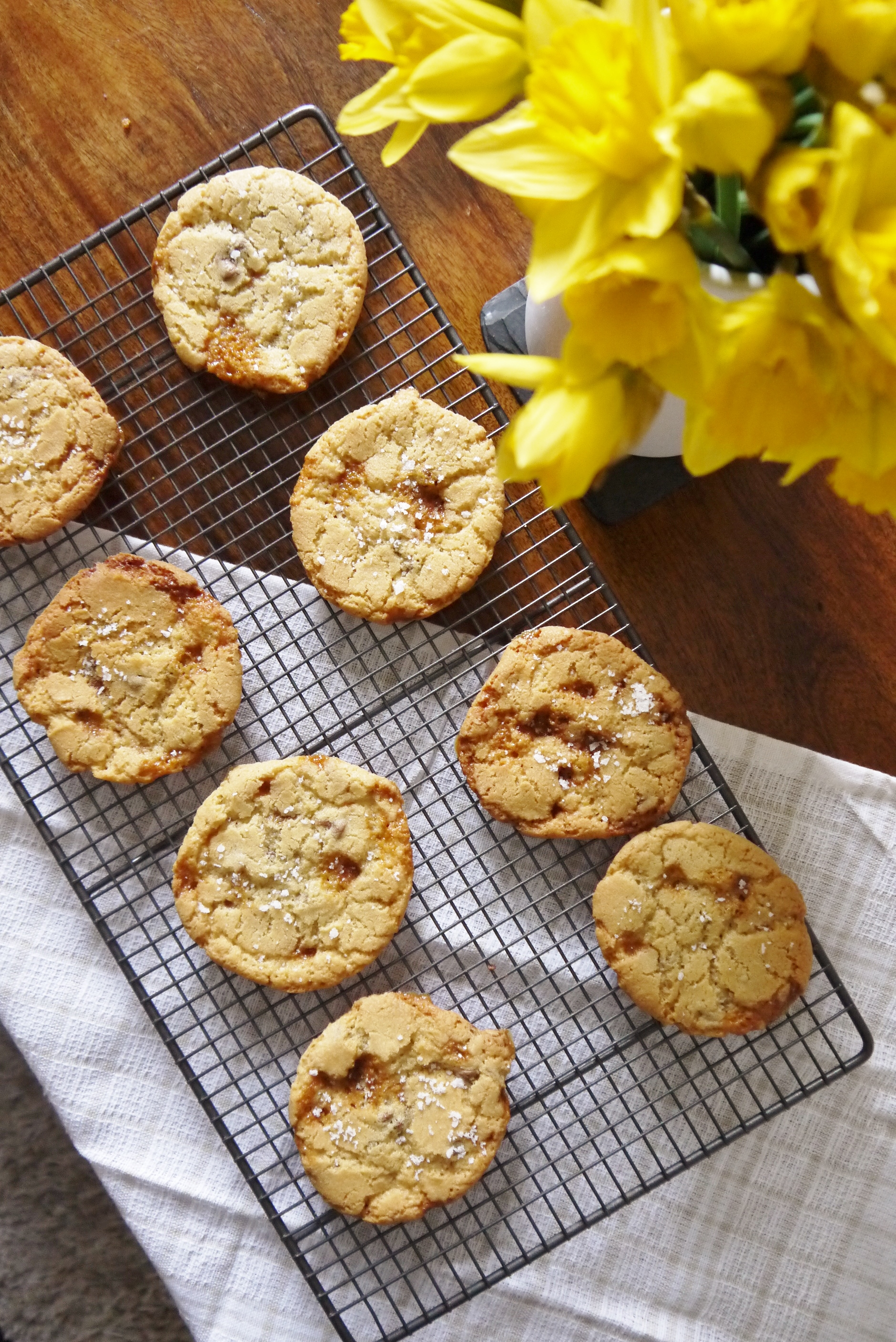 Sea Salt, Butterscotch and Chocolate Chip Cookies | My Kitchen Drawer